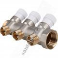 Коллектор 3/4х1/2х 3 STOUT SMB 6851 341203 3 вых., с вентилями