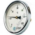 Термометр биметалл STOUT Д-100 L=50мм 1/2