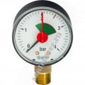Манометр   STOUT с указателем предела 1/4 4 бар радиальный  вниз (ф50)