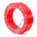 Труба  сшитый полиэтилен  JIF 16Х2,0 PERT PN12.5 (красная) бухта 200м.
