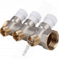 Коллектор 1*х1/2х3 STOUT SMB 6851 011203 3 вых., с вентилями