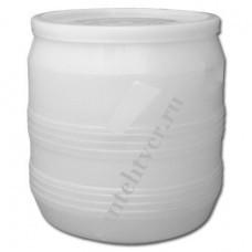 Бочка для воды п/э 35 (с крышкой белая)