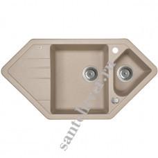 Мойка GRANUCRYL IDDIS VANE 960*500 V28 (1 1/2 чаши угловая) песок
