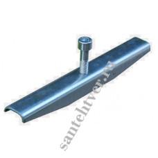 Крепеж стальной к каналу DN 100 водоотводному пластиковому