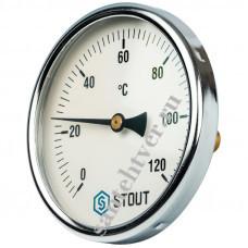 Термометр биметалл STOUT Д-100 L=75мм 1/2
