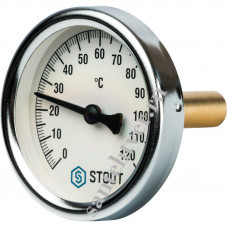 Термометр биметалл STOUT Д-80 L=75мм 1/2