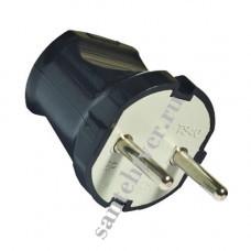 Вилка TDM 6А б/к 250А черная