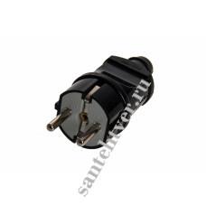 Вилка TDM 16А з/к 250А черная