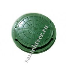 Люк  Л (А-15) полимер. (15кН) зеленый МАЛЫЙ 1,5т.
