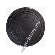 Люк  С (А-70) полимер. (70кН) черный ЛЕГКИЙ 7т.