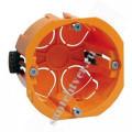 Коробка установ. для полых стен d65х46мм (с саморез, пласт.лапки)КМ40022
