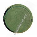Люк  С (А-70) полимер. (50кН) зеленый ЛЕГКИЙ 5т.