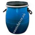 Бочка для воды п/э  48 л. (с крышкой на обруч) синяя