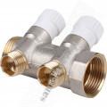 Коллектор 1*х1/2х2 STOUT SMB 6851 011202 2 вых., с вентилями