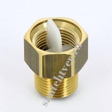 Клапан отсекающий для возд. 3/8 латунь
