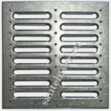 Решетка водоприемная 280х280 стальная штампованная